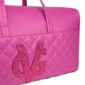 PREORDER - VG Fuchsia quilted duffle bag & fuchsia glitter logo