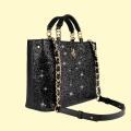 VG black handbag & black glitter