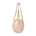 VG light pink quilted big round bag