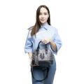 VG Bugatti small gray glitter bag