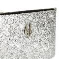 VG Glitter silver small pochette for customized bag