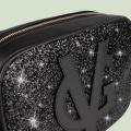 VG grand sac à bandoulière savon noir & glitter noir