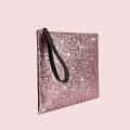VG black clutch & light pink glitter