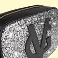 Vg grand sac à bandoulière savon noir & glitter gris