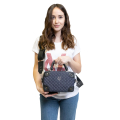 VG Small trunk with quilted jeans bowler
