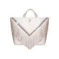 VG30 shopping bag white fringe