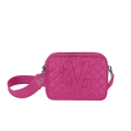 VG shoulder big soap bag quilted fuchsia