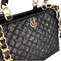 VG petit sac à main matelassé glitter noir