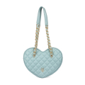 VG green sage quilted big heart bag