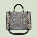 VG sac à main noir & glitter gris