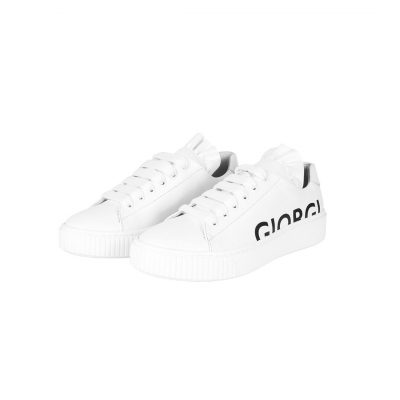 VG White sneakers with black logo