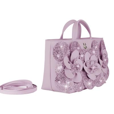 VG sac à main Camelia glitter lilas