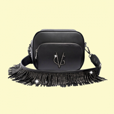 VG Urban fringed black soap bag