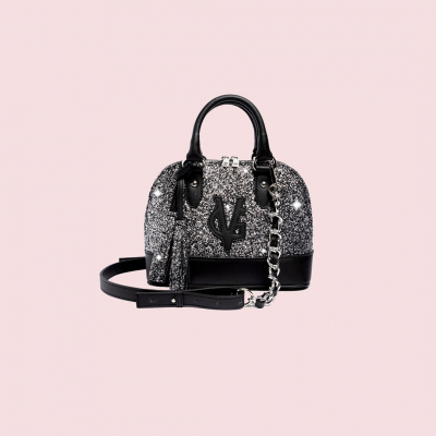 VG Bugatti small gray glitter bag
