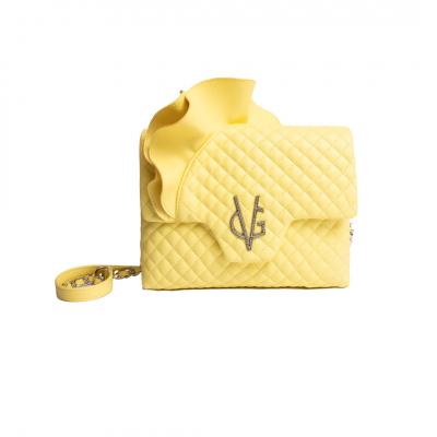 VG Sac bandoulière rouches jaune vanille