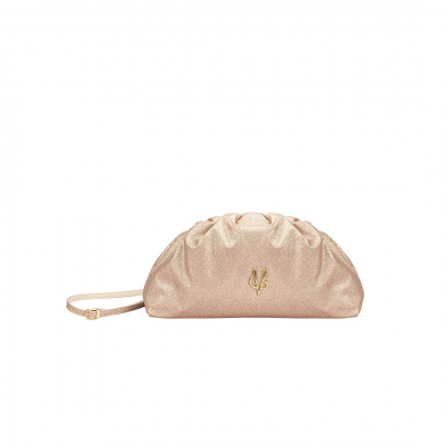 VG light rose glitter small pouch bag