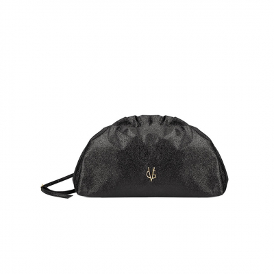 VG black glitter small pouch bag