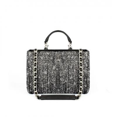 VG10 Black bag grey glitter fringe-Best seller