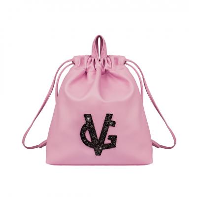 VG pink & black glitter backpack