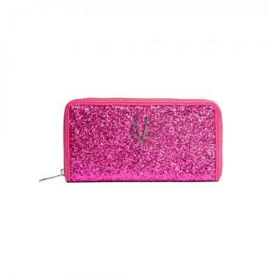 VG fuchsia glitter wallet