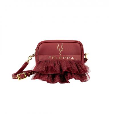 VG x FELEPPA -  Mini saponetta rouches tulle lurex bordeaux