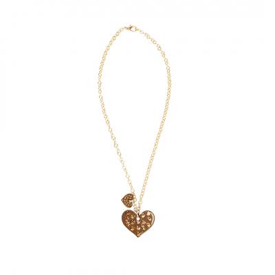 ❤️VG Love-her!Collana cuore cammello