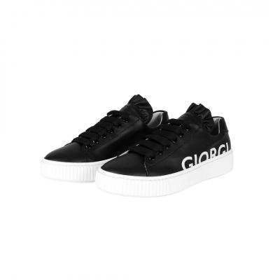 VG Black sneakers & white logo