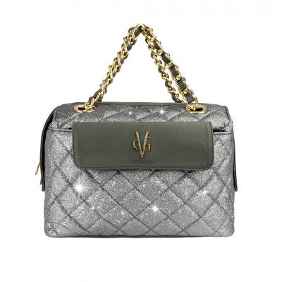 VG VALENTINE BONHEUR-Bauletto glitter grigio