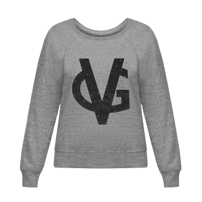 VG grey sweatshirt & glitter black logo