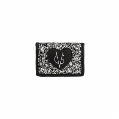 ❤️VG Low Cost-Too Chic black & glitter salt and pepper card holder