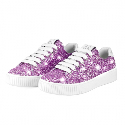 VG Lilac glitter sneakers
