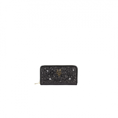 VG portefeuille glitter noir