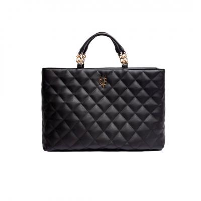VG Large black quilted bag