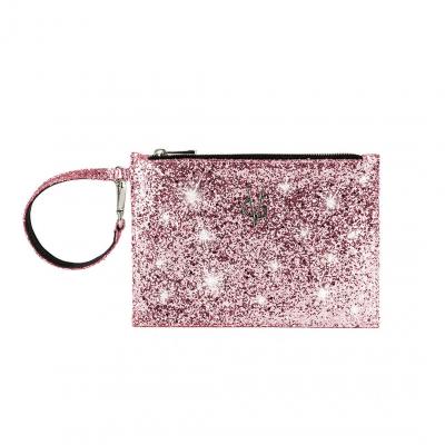 VG Bustina glitter rosa per borsa personalizzata