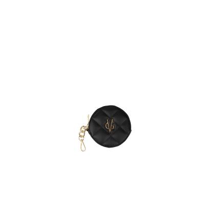 VG black round purse