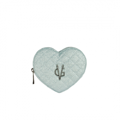 VG purse heart glitter thin light blue