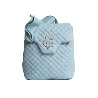VG dusty blue rouches backpack