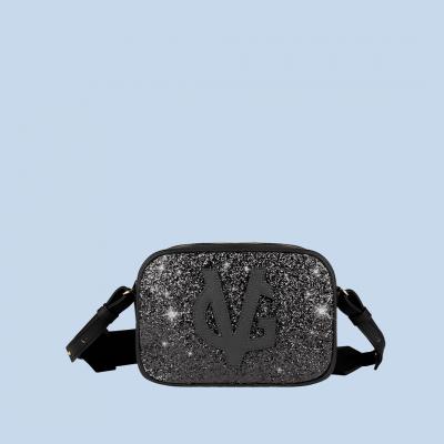 Vg petit sac à bandoulière savon noir & glitter noir