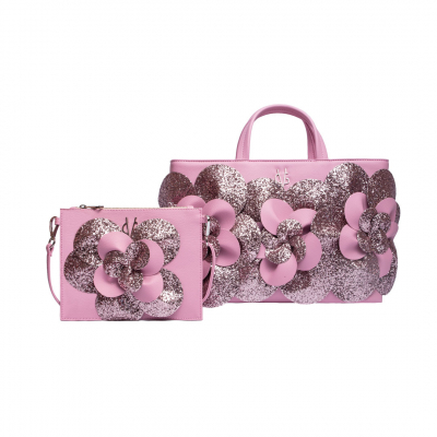 ❤️ VG Set mamy&baby camelia glitter rosa candy