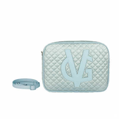 VG large light blue quilted thin glitter soap