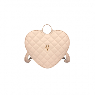 Vg light pink heart quilted backpack