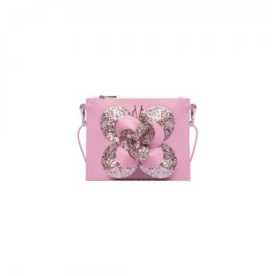 VG camélia bébé paillettes rose bonbon