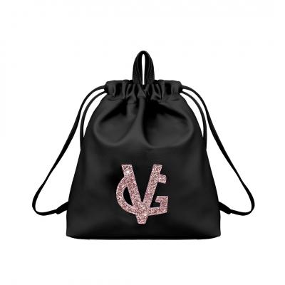 VG black & pink glitter backpack