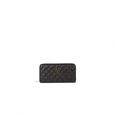 VG black glitter quilted wallet