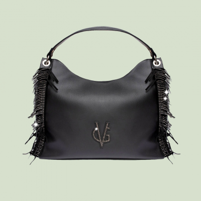 VG black Urban bag with fringes