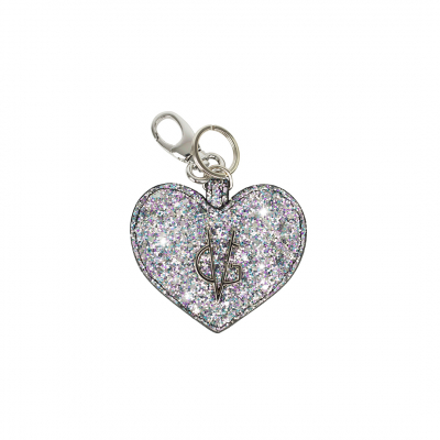 VG Unicorn pink glitter heart keychain