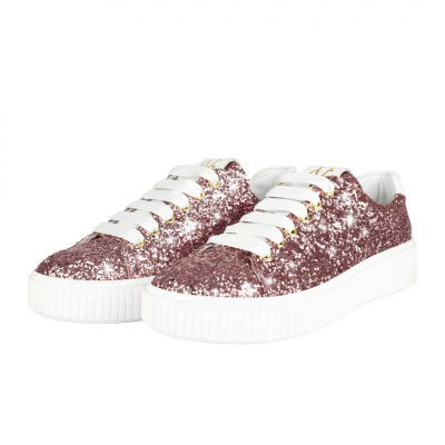 VG Light pink glitter sneakers
