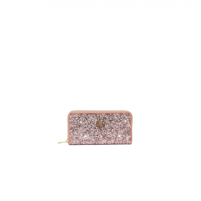 VG light pink glitter wallet