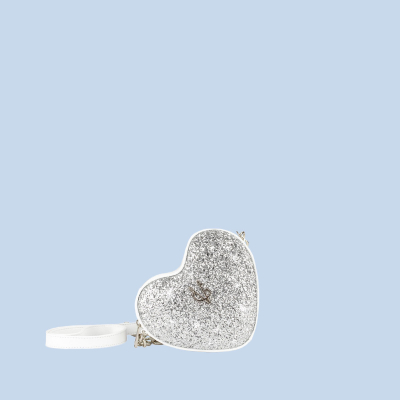 VG cuore baby glitter argento