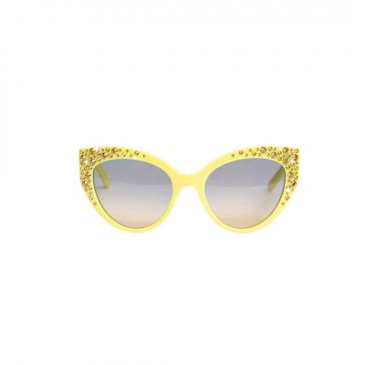 ❤️ VG lunettes de soleil avec swarovski jaune